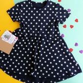 Платье летнее трикотажное  для девочки рр. 92- 110