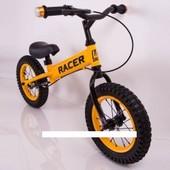 Детский Велобег - Беговел Racer на 12 дюймов с ручным тормозом