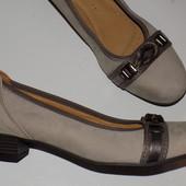 Кожаные фирменные женские туфли Gabor 38-38.5 р кожа везде - Новые