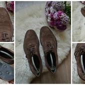 Шикарные замшевые туфли-броги M&S р-р 42