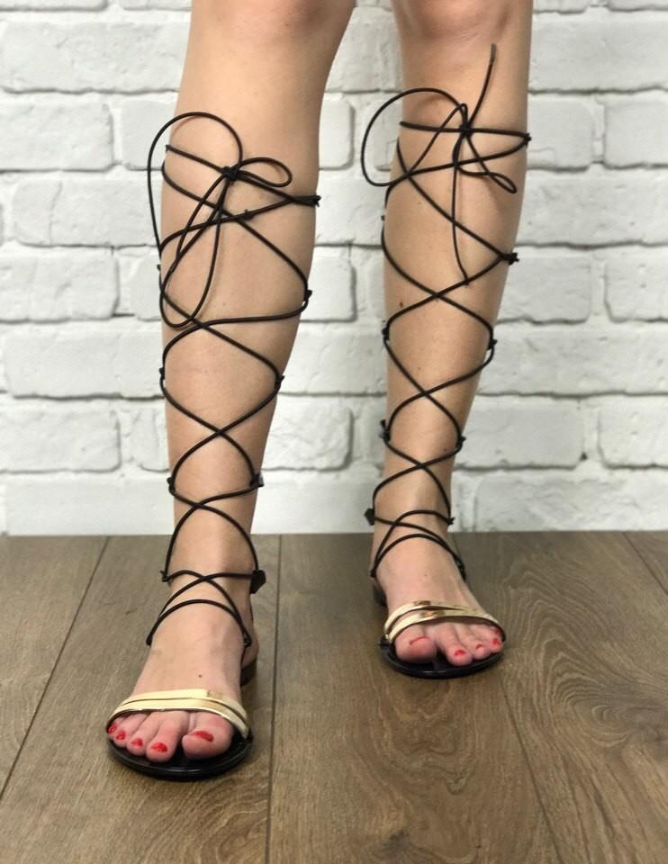 Шикарные сандалии-гладиаторы Asos с высокой шнуровкой  SH1216 фото №1