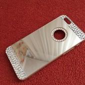 Зеркальный золотой чехол с стразами для Iphone 6 6S