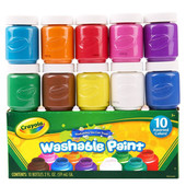 Набор легко смываемые краски Crayola 10 цветов 590 мл сделаны в США