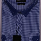 Рубашки короткий рукавчик на лето! s-3xl, 39-46 ворот (тениска-шведка)