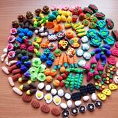 Мини-продукты: еда,овощи и фрукты для игр или Барби.Набор из 20шт. Детки будут довольны!