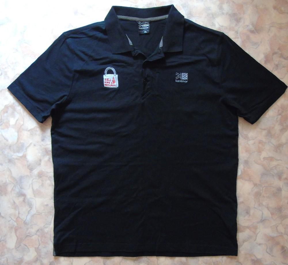 Черн. футболка-поло 50 разм. фото №1