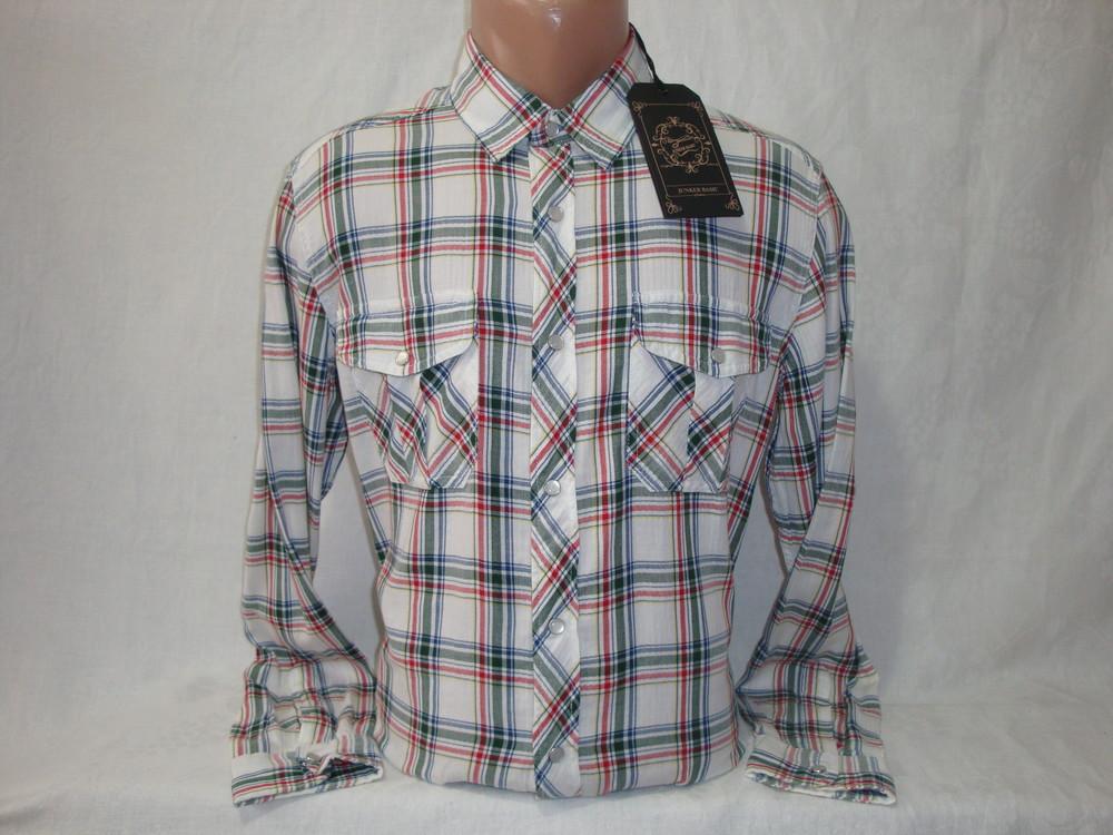 Распродажа! мужская рубашка в клетку на кнопках с длинным рукавом junker. разные цвета. фото №1