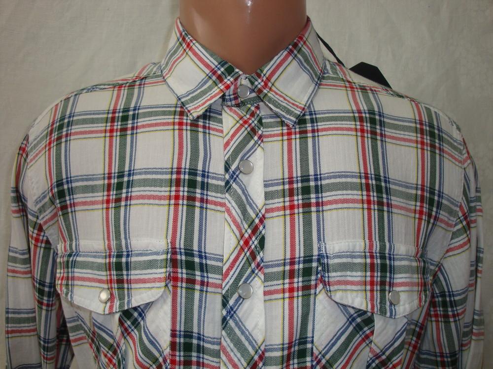 Распродажа! мужская рубашка в клетку на кнопках с длинным рукавом junker. разные цвета. фото №2