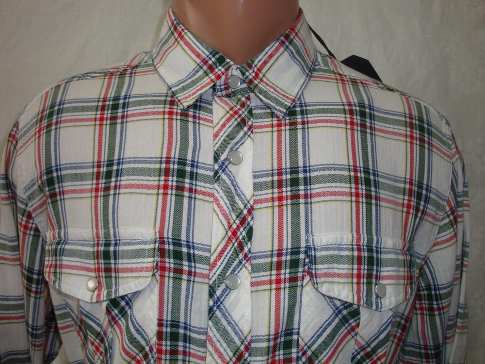 Распродажа! мужская рубашка в клетку на кнопках с длинным рукавом junker. разные цвета. фото №3
