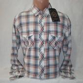 Распродажа! Мужская рубашка в клетку на кнопках с длинным рукавом Junker. Разные цвета.