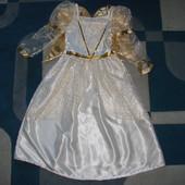 красивое нарядное платье с крыльями Disney 6-7 лет отл.состояние