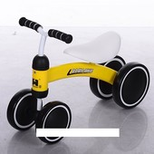 Беговел Baby-Bike 859-6 колеса EVA+кож сиденье, желтый