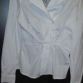 Рубашка блуза Сinema donna Турция стильная гипюровая спина 38 размер м