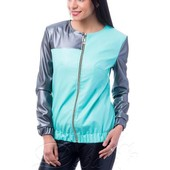 Женская куртка - бомбер эко кожа на подкладке 42,44,46 (2б