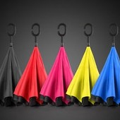 Ветрозащитный зонт обратного сложения UP-brella однотонный