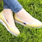 Туфли яркие желтые натуральная кожа Обмен возврат