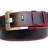 Джинсовый кожаный мужской ремень 45 мм