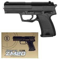 Пистолет металл на пульках zm20 фото №1