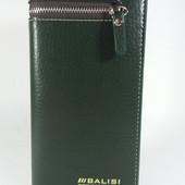 Мужское портмоне Balisi темно зеленого цвета