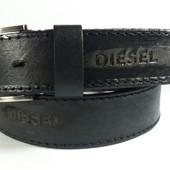 Джинсовый кожаный ремень Diesel
