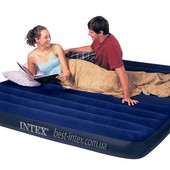 Двуспальный надувной матрас Intex 68755  183х203х22 см.