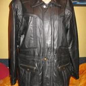 Куртка кожаная на съёмной подкладке из искусственного меха,р.48-50(М).