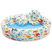 Бассейн надувной Intex 59469 с набором круг и мяч