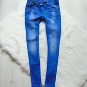 Стильные узкие стрейчевые джинсы для девочки. Next. Размер 9 лет