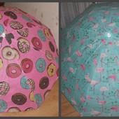 пляжный зонтик , зонт ,  пляжний зонтік , пончик  , фламинго , фламінго 180см