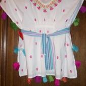 Фирменная рубашечка-туничка Pink на 2-3\4\года Индия