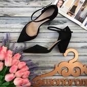 Стильные базовые туфли Asos на скошенном каблуке  SH2712