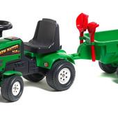 Трактор каталка с прицепом Falk 1081C