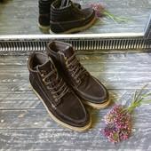 Мужские утепленные замшевые ботинки  Fat Face p-p 41-42