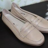 37,5 24см medicus кожаные бежевые ортопед мокасины туфли