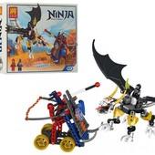 Конструктор Lele ninja 31013 Атака дракона на катапульту, 206 деталей, аналог Lego Ninjago