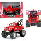 Металлическая инерционная машинка Kinsmart эвакуатор Chevrolet 3100 Wrecker, kt5333w