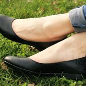 Балетки кожаные черные 36 37
