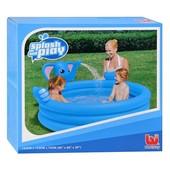 Детский надувной бассейн BestWay 53048 «Слоник» с фонтаном, 153 х 153 х 74 см