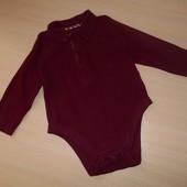 Боди-поло, рубашка Marks&Spencer 1,5-2 года, 90 см, Оригинал