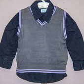 Рубашка с жилеткой 18-24 мес. F&F*