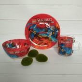 Детский набор посуды Нинздяго, 3 предмета