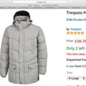 Новая зимняя термо куртка Trespass р. XL. из Америки