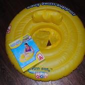 Надувной круг Swim Safe Baby жёлтый Bestway