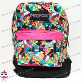 Молодежный рюкзак JanSport-107, 40х30х15см, наружный карман, уплотненная спинка, школьный рюкзак