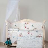 Детская постель в кроватку набор постели 6 элементов Eco Line Indian