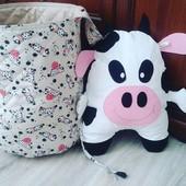 Корзина для игрушек + декоративная подушка