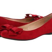 туфли балетки красные Jessica Simpson us 7 размер 37 на ногу  24см