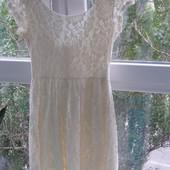 Vila кружевное платье  S-M-размер