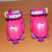 Фирменные четырехколесные ролики для девочки (15-20 см)