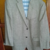 Шикарный пиджак премиум качества лен+шерсть от Mario Barutti,p.54